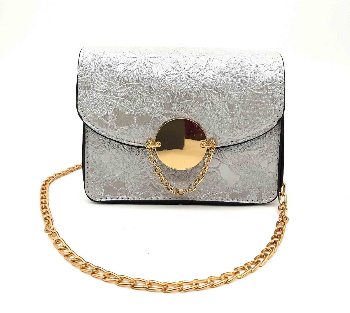 Floral Textured Pattern Baby Bag With Chain Strap
