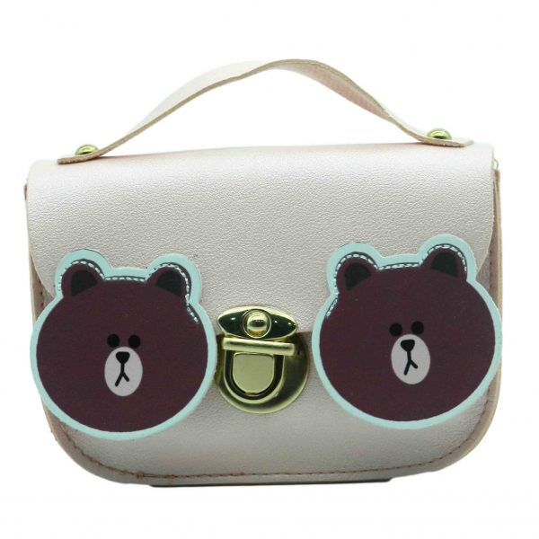 Cute Bear Pattern Children Shoulder Baby Bag