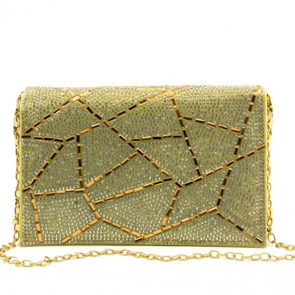 Crystal Stoned Chain Strap Baby Bag