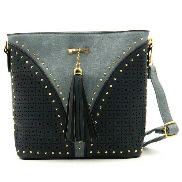 Studded Tassel Fashion Crossbody Bag